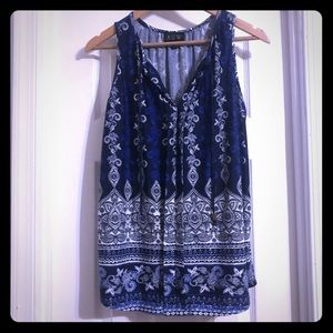 AUW Blue Hues Sleeveless Tunic